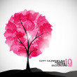 Valentine tree, abstract background — Stock Vector #34013741