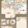 Vector de stock : Stationery set