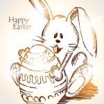 Easter rabbit — Stock Vector