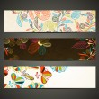 Banner with floral pattern — Image vectorielle