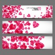 Banner with hearts valentine — Stock Vector #34016187