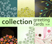 Koleksiyon tebrik kartları — Stok Vektör