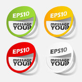 Labels design elements — Stock Vector