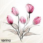 Lente bloemen achtergrond — Stockvector