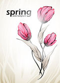 Våren blommor bakgrund — Stockvektor