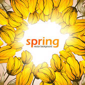 Spring flowers background — Stock Vector