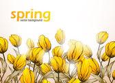 Fondo de flores de primavera — Vector de stock