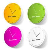 Tijd sticker — Stockvector