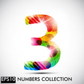 Number three — Stock Vector