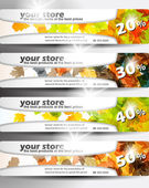 Autumn discount sale banner — Stock Vector