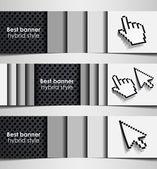 Banner cursor combination — Stock Vector