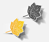 Autumn sticker leaf set — Wektor stockowy