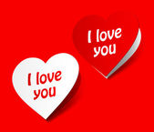 I love you heart sticker — Vettoriale Stock