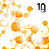 Dna-Molekül, abstrakt — Stockvektor