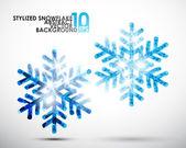 Festive snowflake set — Stock Vector