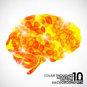 Human brain, solar thoughts — Stock Vector