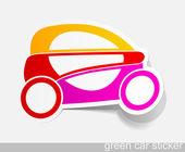 Ekologicznych samochodów, elementy realistyczne projektu — Wektor stockowy