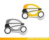 Eco auto, realistische ontwerpelementen — Stockvector