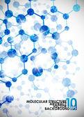 Molecular structure background — Stock Vector