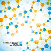 Molecular structure background — Stock Vector