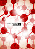 Molecular structure, abstract background — Stockvektor
