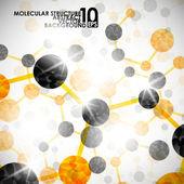 Moleculaire structuur, abstracte achtergrond — Stockvector