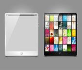 Komputer typu tablet, wektor wzór — Wektor stockowy
