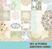 Set of floral greeting cards — Vetorial Stock