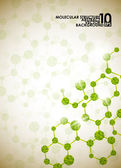 Molecular structure background — Vector de stock