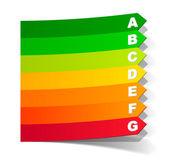 Klasyfikacja energii w formie naklejki — Wektor stockowy
