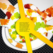 Multi layered abstract background with the theme of autumn — Stock Vector