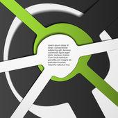 Multi gelaagde abstracte achtergrond — Stockvector