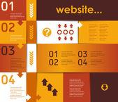 Layout per il sito e infografica — Vettoriale Stock