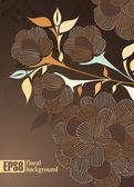 Florale achtergrond — Stockvector