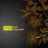 Fondo floral — Vector de stock