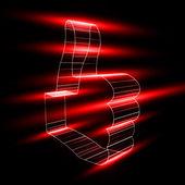Resumen de símbolo como en estilo 3d — Vector de stock