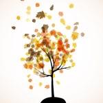 Autumn tree background — Stock Vector #34047537