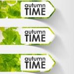 Autumn sticker — Stock Vector #34047601