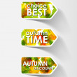 Autumn sticker — Stock Vector