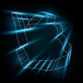 Streszczenie symbol, jak w stylu 3d — Wektor stockowy