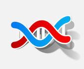 Molecule sticker — Stock Vector
