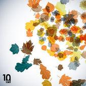 Jesienią liście — Wektor stockowy