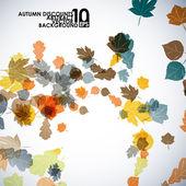 осень оставляет фон — Cтоковый вектор