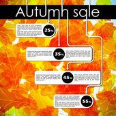 Jesień sprzedaż z rabatem — Wektor stockowy