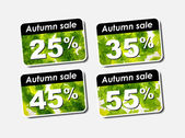 Autumn discount sale — Stock Vector