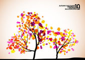 Autumn tree background — Stock Vector