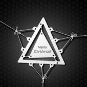 Merry christmas karty — Wektor stockowy