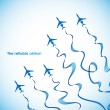 Airplane, vector abstract background — Stock Vector #34056487