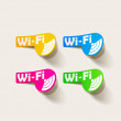 Free Zone wi-fi, sticker — Stock Vector
