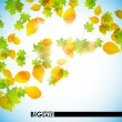 Stock Vector: Autumn background
